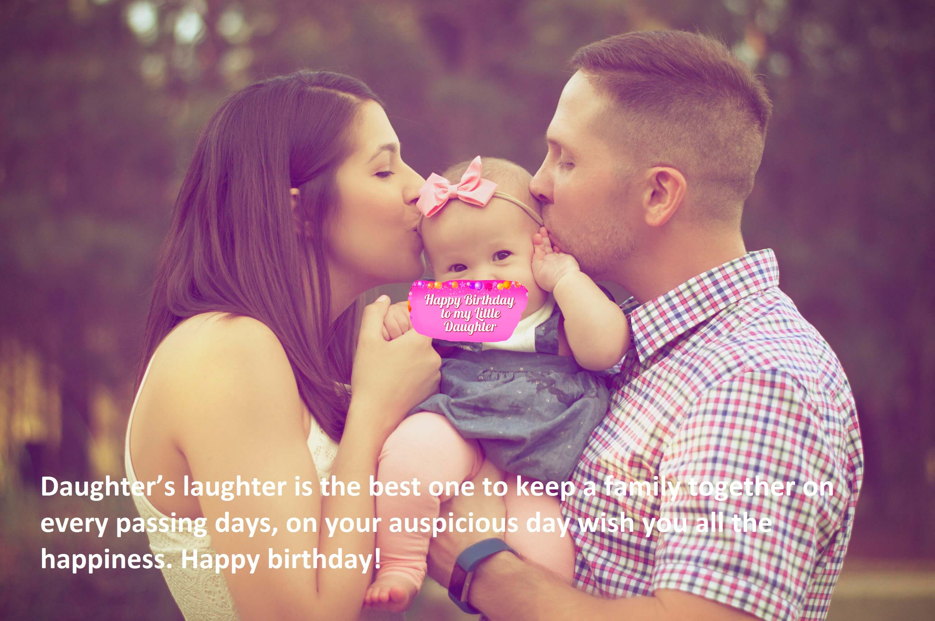Birthday SMS for Daughter