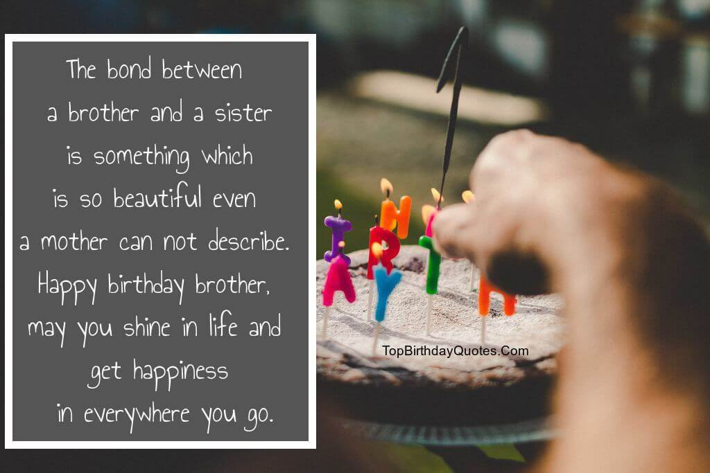 Happy Birthday Wishes For Brother Topbirthdayquotes